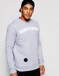 Стеганый свитшот с круглым вырезом Cheats & Thieves - Серый