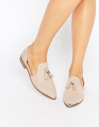 Остроносые туфли на плоской подошве ASOS MELODY - Телесный