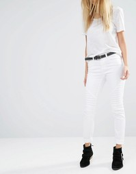 Байкерские джинсы Noisy May Extreme Lucy - Белый