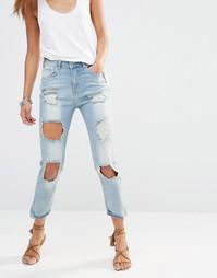 Рваные джинсы слим Missguided Hustler - Состаренный стираный