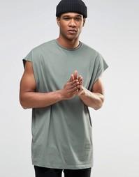 Светло-зеленая oversize‑футболка с необработанными краями ASOS