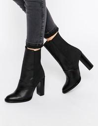 Кожаные ботинки на каблуке Dune Pembleton - Черная кожа