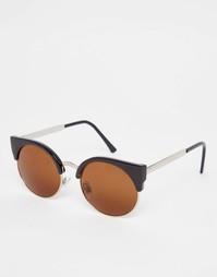 Солнцезащитные очки кошачий глаз Monki - Черный
