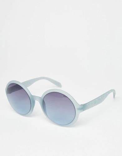 Круглые солнцезащитные oversize-очки Calvin Klein - Лазурный