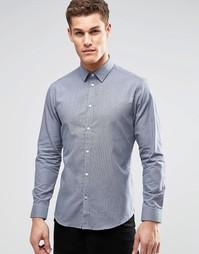 Рубашка классического кроя с длинными рукавами Esprit - Темно-синий