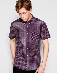 Клетчатая рубашка с короткими рукавами D-Struct - Красный