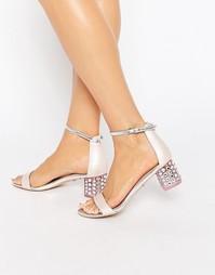 Сандалии на блочном каблуке с отделкой Carvela Groove - Бледно-розовый