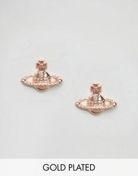 Серьги цвета розового золота Vivienne Westwood Farah - Розовое золото