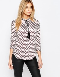 Блузка с завязкой с кисточками Goldie Beyond Silence - Черный