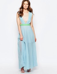 Платье макси Jovonna Neon Town - Синий