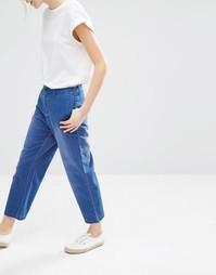 Укороченные джинсы Monki - Синий
