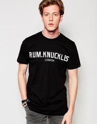 Футболка с лондонским принтом Rum Knuckles - Черный