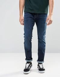 Узкие джинсы Esprit - Темно-синий выбеленный