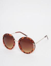Круглые солнцезащитные оversize-очки с металлической переносицей ASOS
