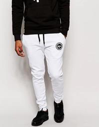 Зауженные спортивные брюки с логотипом Hype - Белый