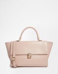 Кожаная сумка с короткой ручкой ASOS - Розовый