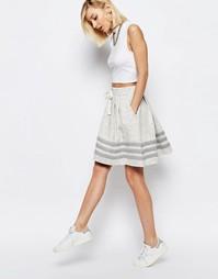 Юбка с полосками adidas Originals - Бежевый