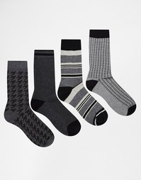 4 пары носков Jack & Jones - Серый