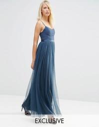Платье макси Needle & Thread Giselle Ballet - Выбеленный индиго