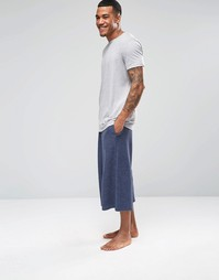 Темно-сине штаны в стиле casual с широкими штанинами ASOS