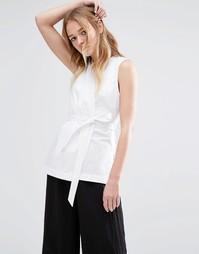 Блузка с запахом Neon Rose - Белый
