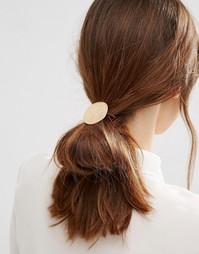 Резинка для волос с диском ASOS - Золотой