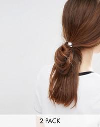 2 резинки для волос с дисками ASOS - Серебряный