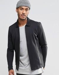 Хлопковая премиум-куртка Харрингтон Jack & Jones - Черный