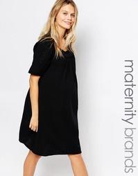 Свободное платье для беременных с кружевной отделкой Mamalicious Mama.Licious