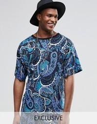 Фестивальная футболка с принтом пейсли Reclaimed Vintage - Темно-синий