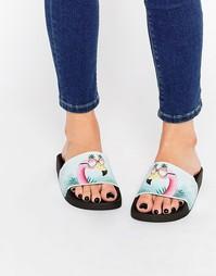 Сандалии-слайдеры TheWhiteBrand Cool Flamingo - Мульти