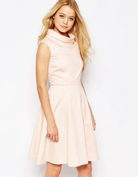 Расклешенное платье миди Closet - Peach