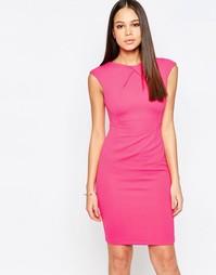 Платье-футляр с короткими рукавами и отделкой спереди Vesper Avery