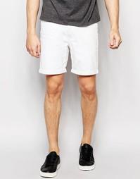 Зауженные джинсовые шорты с отворотами Only & Sons - Белый
