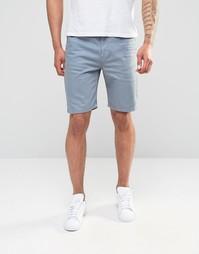 Голубые джинсовые шорты слим ASOS - Citadel