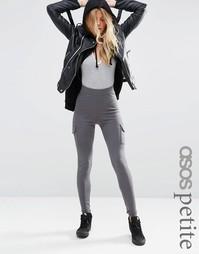 Стретчевые супероблегающие брюки с накладными карманами ASOS PETITE