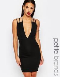 Облегающее платье с бретельками Boohoo Petite - Черный