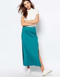Трикотажная юбка макси Sisley - 112 бирюзовый