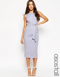 Облегающее платье миди с завязкой сбоку ASOS TALL - Сиреневый