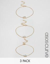 Набор из 3 браслетов в стиле вестерн ASOS CURVE - Мульти