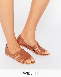 Кожаные летние туфли для широкой стопы ASOS JESPER - Рыжий