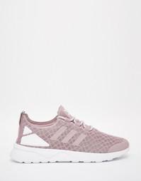 Фиолетовые сетчатые кроссовки adidas Originals ZX Flux Verve