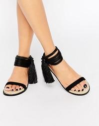 Замшевые сандалии с кисточкой ALDO Yinda - Черный