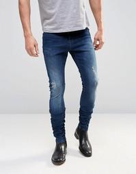 Супероблегающие джинсы ASOS - Indigo - индиго