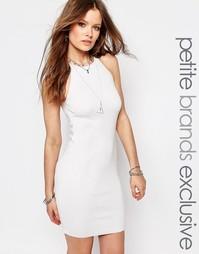 Вязаное платье‑халтер на молнии Noisy May Petite - Белый