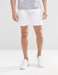 Белые супероблегающие джинсовые шорты ASOS - Белый