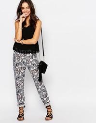 Свободные брюки с принтом пейсли J.D.Y - Синий JDY