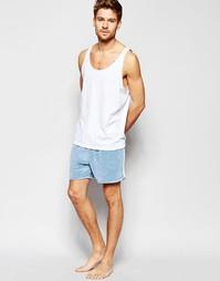 Бархатные шорты для бега в стиле casual ASOS - Синий
