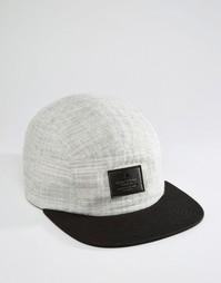 5‑панельная кепка с фактурной парусиной ASOS - Серый