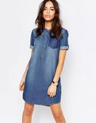 Джинсовое платье без воротника J.D.Y - Умеренный синий JDY